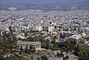 Athens - Acropolis - View of City and Temple of Zeus