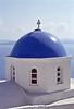 santorini - blue church dome