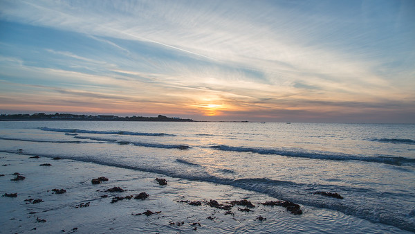 Evening, Guernsey, Places, Sea, St. Peter Port, Sunset, Vazon, Vazon Bay