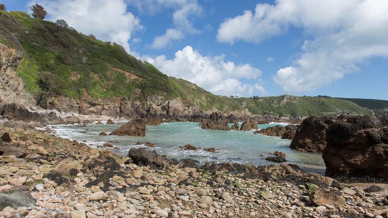Cliff, Guernsey, Moulin Huet, Places, Rocks, Sea