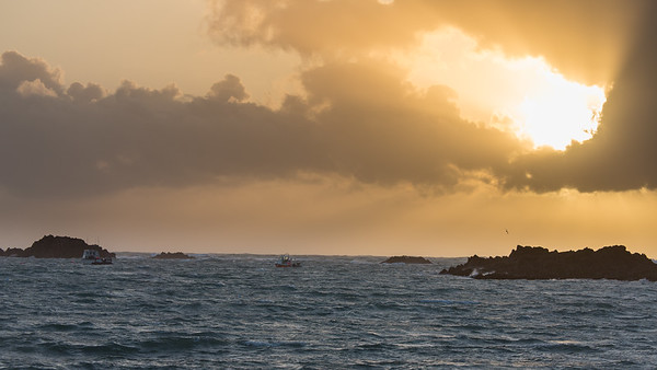 Cobo Bay, Evening, Guernsey, Places, Sea, Sunset