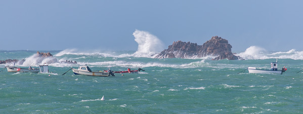 Boat, Fishing Boat, Guernsey, Places, Pulias, Sea, Waves Breaking, Wind