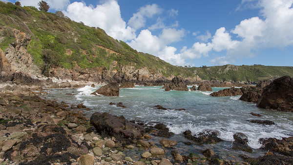 Cliff, Guernsey, Moulin Huet, Places, Rocks, Sea