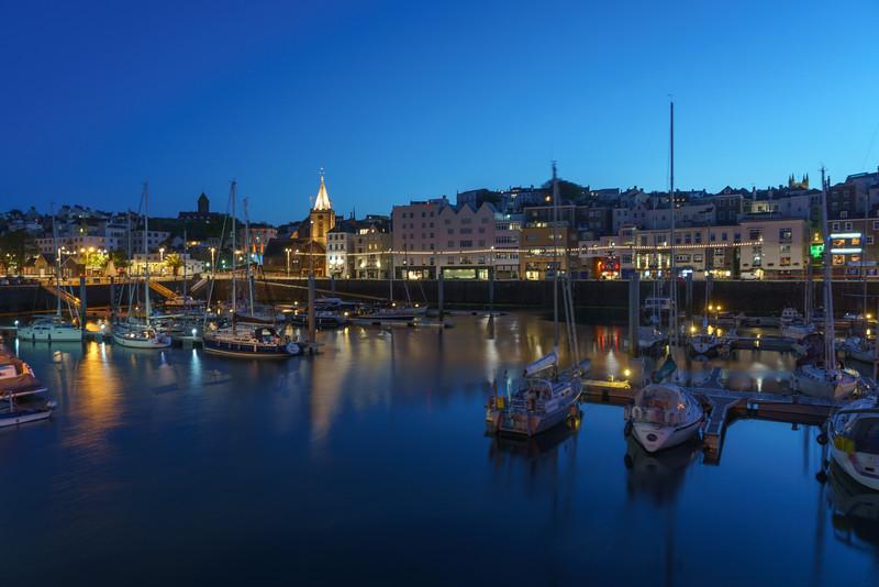 St. Peter Port, Night, Guernsey