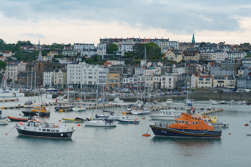 St. Peter Port, View from Condor Liberation, Guernsey