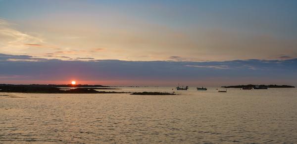 Vazon Bay, Sunset, Guernsey