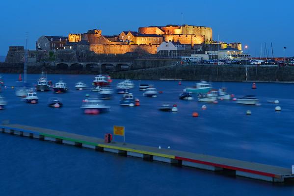 Castle Cornet, St. Peter Port, Night, Guernsey