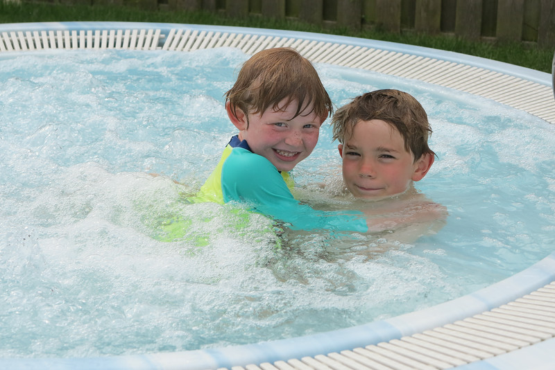 Our holiday home and some brotherly love