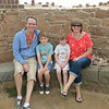 Coastal defences - Vazon Bay - William & Toby, Mum & Dad