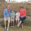 Coastal defences - Vazon Bay - William & Toby, Mum & Dad