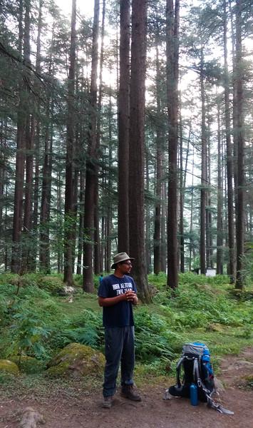 Our trek Guide. Sushant.