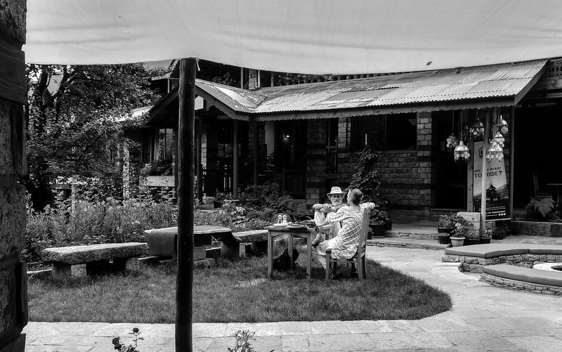 Quiet LUnch at Johnsons Cafe. Manali.