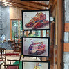 Dhruvs Art up for sale at Johnsons cafe. Manali.