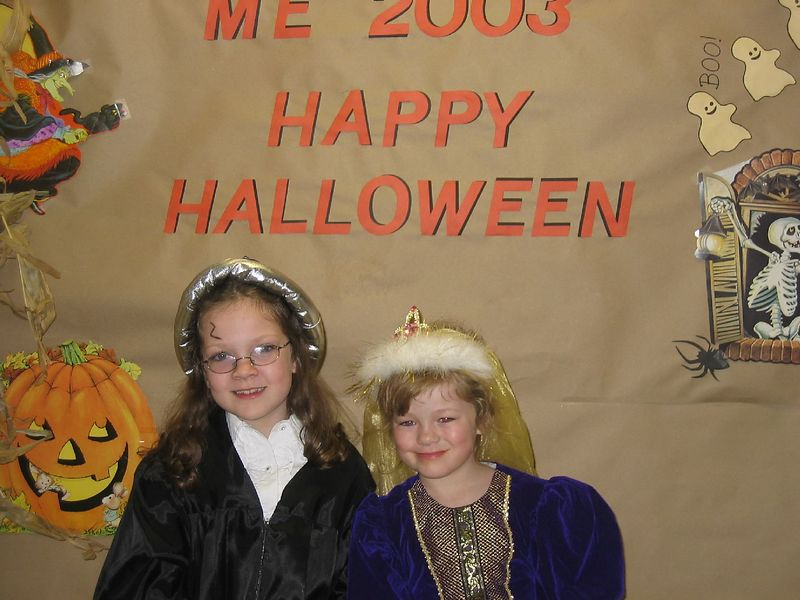 Rowan as Harry Potter and McKenna as a princess.
