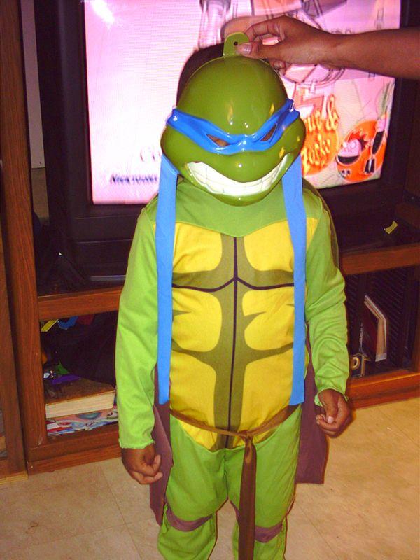 Isaiah as Michaelangelo, Teenage Mutant Ninja Turtle