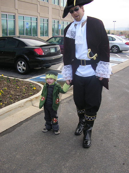 The scary Frankenstein Monster and the Gentleman Pirate!