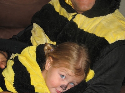 This is Ashley, my niece's best friend.  Cute little bumble bee.