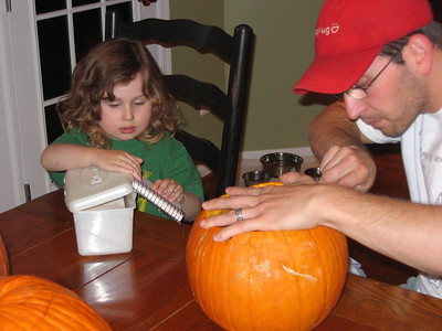 Pumpkin carving.