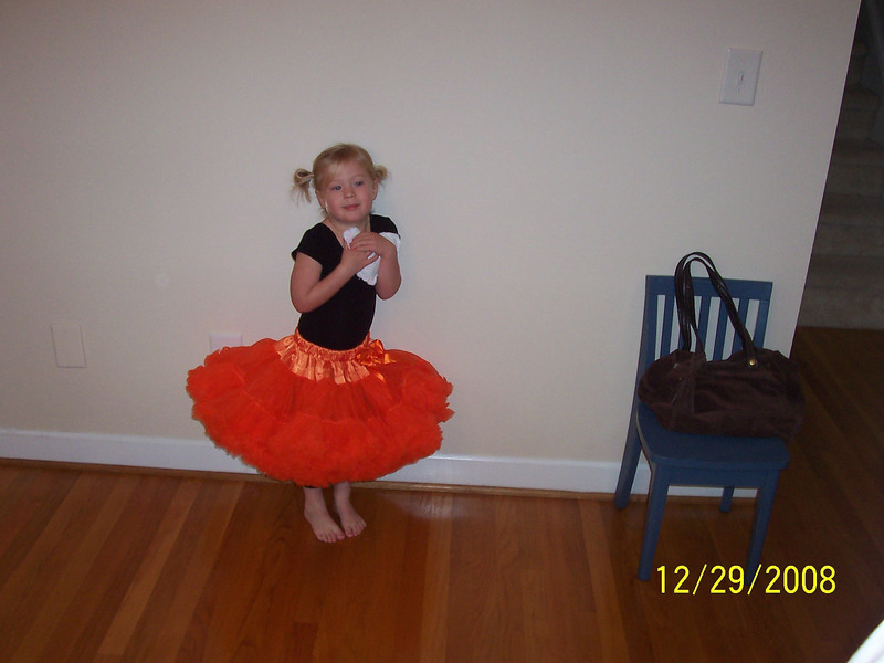 Ashley ready for Dance Gymnastics