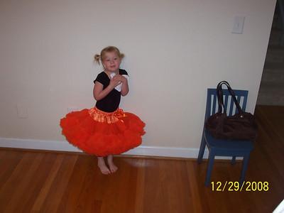 Ashley ready for Dance Gymnastics