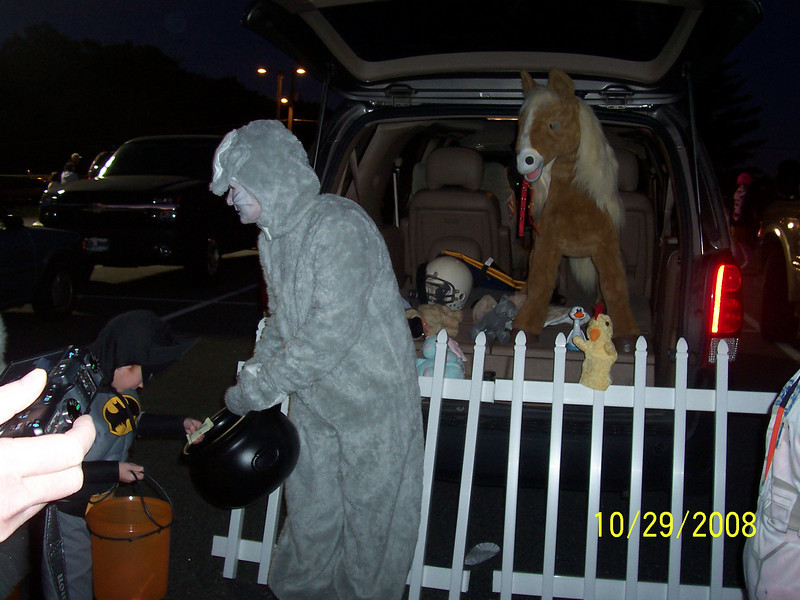 Tunk or Treat at the Baptist Church in Summerfield