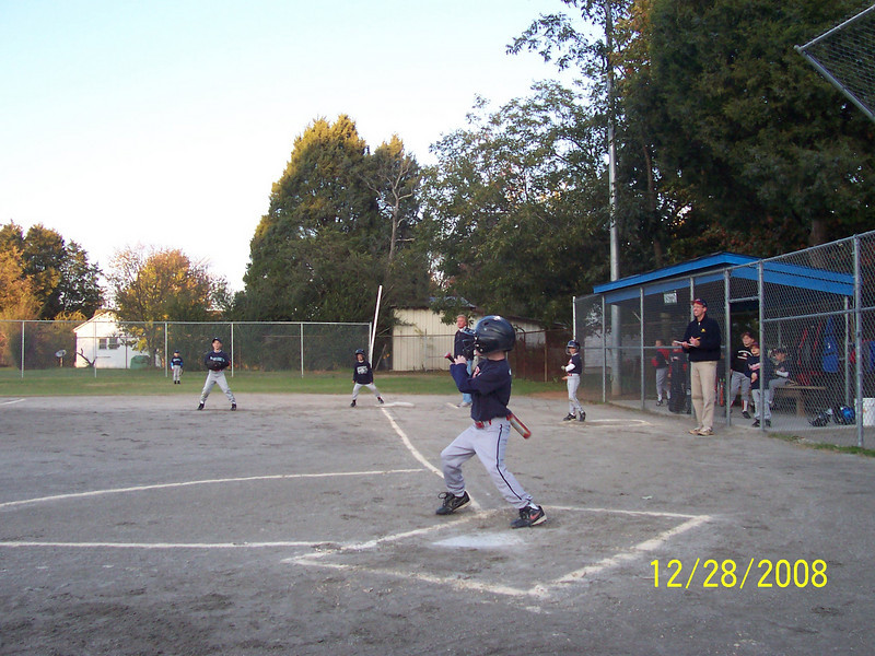 "Zachary hits a double in his final game.  Look at the ""POWER"""