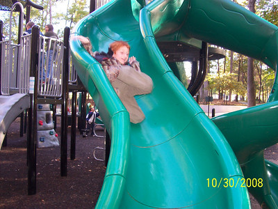 Look out that slide is fast