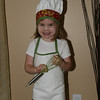 Brenna's chef costume for her preschool halloween party