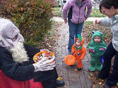 The little orange pumpkin was mesmerized. He stood there for about four minutes with that same expression and did not move a muscle.
