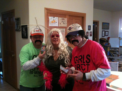 The Las Vegas porn slapping team - Miguel (Fernando), Alison (Angie) and Jose (Jaime) ready to introduce the art of card slapping to the streets of Bay View, WI.