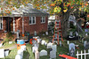 Saturday, 30 October 2010 - this year's graveyard in the front yard.