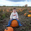 Evan at Chappell's Farm pumpkin patch - 2010