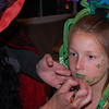 Green lips will finish off the most creative costume.