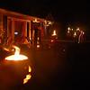 Flaming jackolanterns.