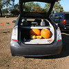 The car is loaded up with pumpkins.  We're off to the next pumpkin patch!