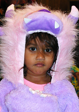 Bhuvi Ranka, 2, Batesville, as The Purple Monster