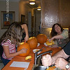 We finished eating....so let the pumpkin carving begin...