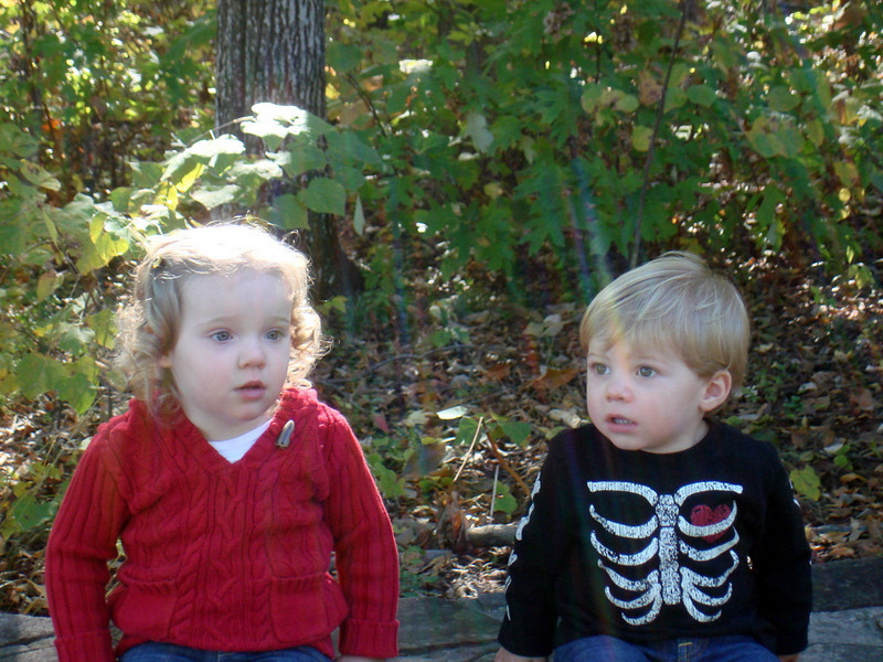 Reese & Cooper (along with myself & Brooke) had a playdate at Botanical Gardens Fall Festival.