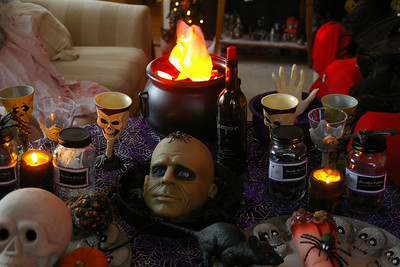 A table full of Halloween goodies!