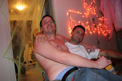 Ryan and Aron chilling after the party