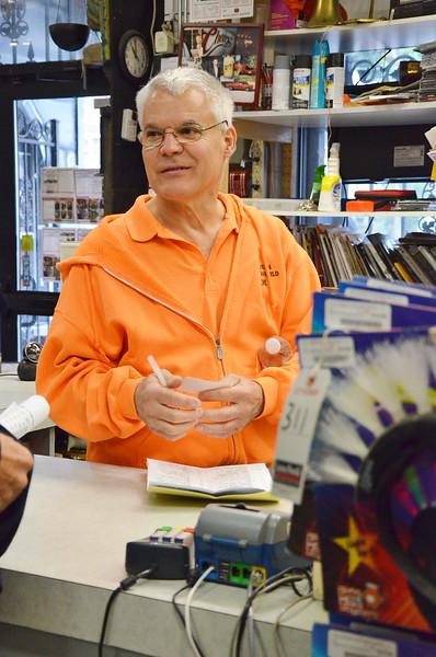 Jack Hoover, owner of Halloween Costume World in Fitchburg inside his shop in 2014. SENTINEL & ENTERPRISE / Ashley Green