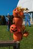 A stack of Jack-o-Lanterns