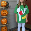 Delaney is a 7-Up can. She made the costume her-self. Too cute.
