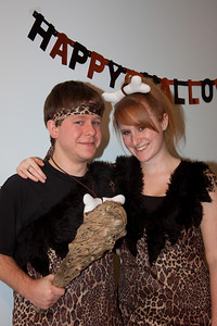 Cliff and Jess as Bam Bam and Pebbles.