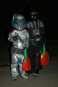 Jack as Darth Vader & Will as Jenga Fett (3)