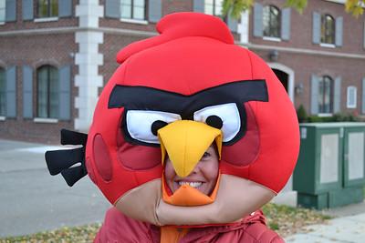 Amy as Angry Bird