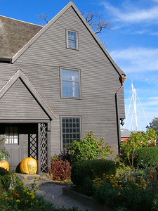 House of Seven Gables, Salem, Massachusetts. Harbor in distance.