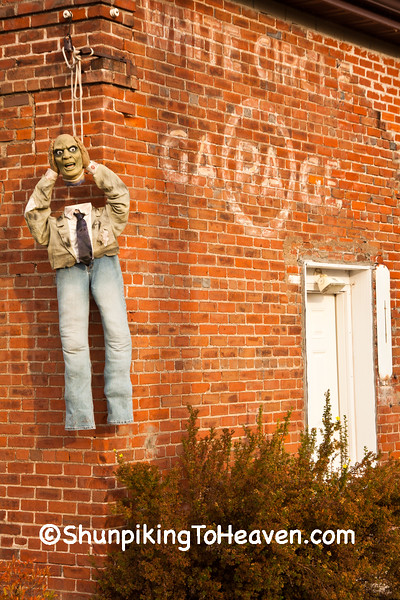 Halloween Ghoul at the White Circle Garage, Ashland County, Wisconsin