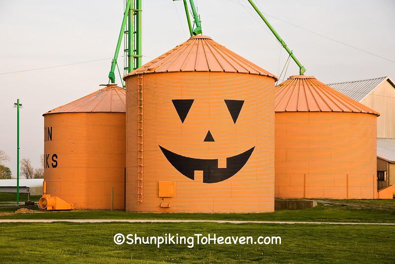 Jack-o'-Lantern Grain Bins, Clark County, Indiana