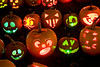 "Jack-o-Lanterns Carved by Children at ""The Steeple"", Delafield, Wisconsin"